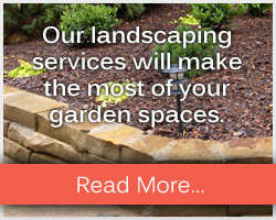 Our landscaping services will make the most of your garden spaces