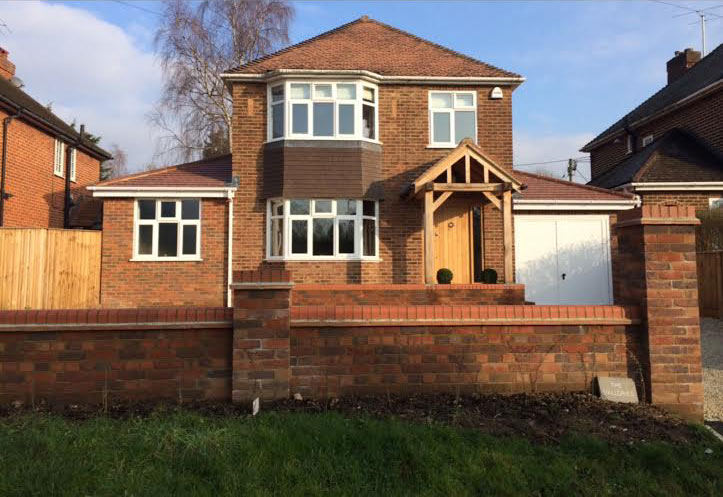 Extension porch wet room bourne end dna builders for Porch extension