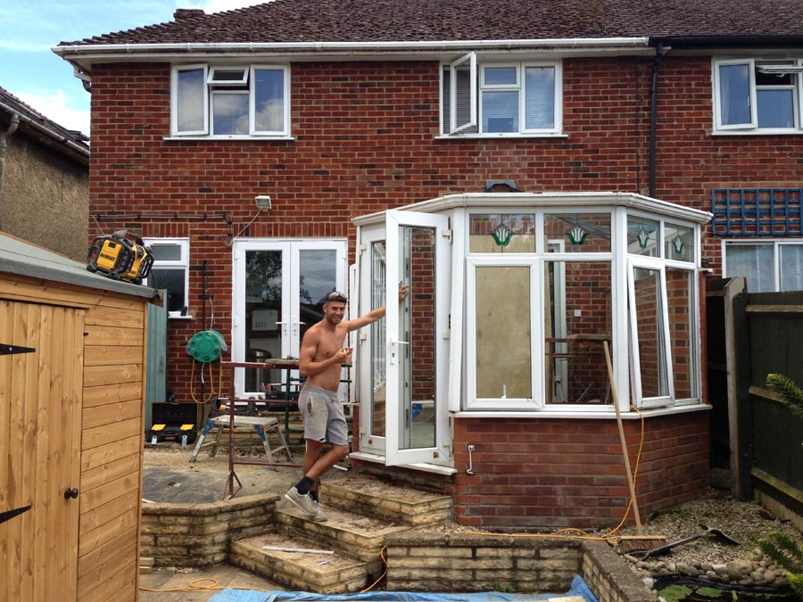 Single storey extension thame dna builders thame for Garden house extension